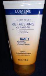Освежающий очищающий крем для умывания Lumene Bright Touch Refreshing Cleanser