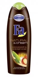 Крем-гель для душа Fa Natural & Cream Макадамия & Зеленый кофе