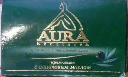 Крем-мыло Aura exclusive с оливковым маслом