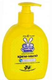 """Крем-мыло """"Ушастый нянь"""" с оливковым маслом и экстрактом алоэ вера"""