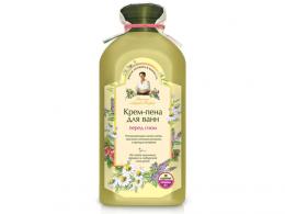 """Крем-пена для ванн """"Рецепты бабушки Агафьи"""" перед сном на пяти мыльных травах и сибирской соли рапа"""