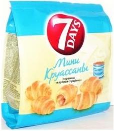 Мини-круассаны 7 Days с Варёной сгущенкой