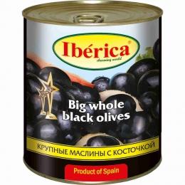 Крупные маслины с косточкой Iberica Big whole black olives