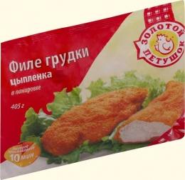"""Кусочки филе грудки цыпленка в панировке """"Золотой петушок"""""""