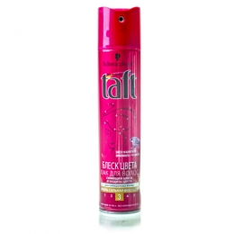 """Лак для волос Taft три погоды """"Блеск цвета"""" очень сильной фиксации"""