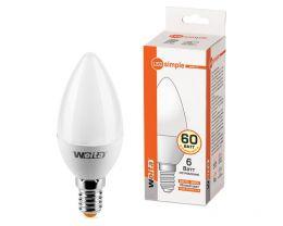 "Лампа светодиодная LED ""Wolta"" цоколь Е14 6W 560 лм"