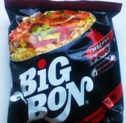 """Лапша Big Bon Говядина+соус """"Томатный с базиликом"""""""
