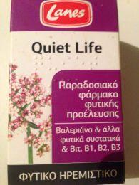 """Лекарственный растительный препарат Lanes """"Quiet Life"""" в таблетках от бессонницы и стресса"""