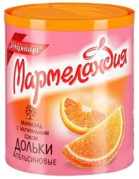 """Мармелад с натуральным соком Ударница """"Мармеландия"""" дольки апельсиновые"""