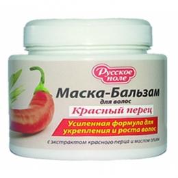 """Маска-бальзам для волос """"Русское поле"""" Красный перец"""