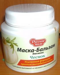 """Маска-бальзам для волос Русское поле """"Чеснок"""" усиленная формула против выпадения волос"""