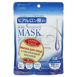Маска для лица Japan Gals Pure5 Essence с гиалуроновой кислотой