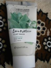 """Маска для лица Oriflame Love nature """"Чайное дерево"""" очищающая"""