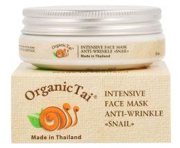 Маска для лица против морщин с экстрактом улитки Organic Tai Intensive Face Mask Anti-Wrinkle Snail
