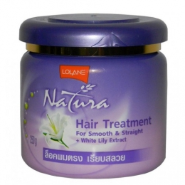 Маска для волос Lolane Natura Hair treatment for smooth & stright + white lily extract