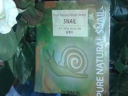 Маска тканевая с муцином улитки Pure Natural Mask Sheet The Saem