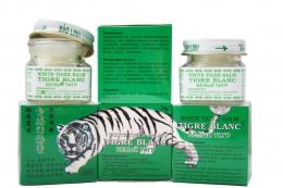 Мазевый массажный бальзам «White tiger balm» Tigre blanc