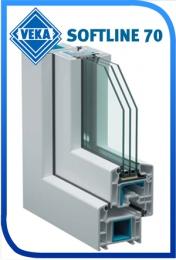 Металлопластиковые окна Veka Softline 70