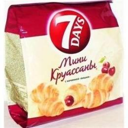 """Мини круассаны 7 Days с начинкой """"Вишня"""""""