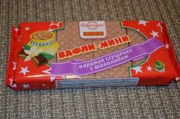 """Мини-вафли """"Брянконфи"""" Premium Вареная сгущенка с шоколадом"""