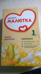 """Молочная каша кукурузная """"Малютка"""" ступень 1"""