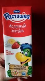 "Молочный коктейль Danone ""Растишка"" Банан-клубника"