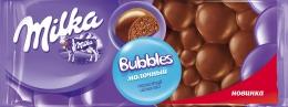 "Молочный пористый шоколад ""Milka Bubbles"""