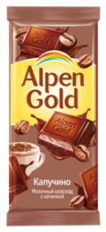 """Молочный шоколад Alpen Gold """"Капучино"""" с начинкой"""