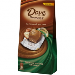 "Молочный шоколад ""Dove Promises"" с фундуком"
