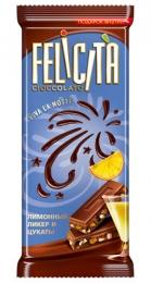 """Молочный шоколад """"Felicita"""" лимонный ликер и цукаты"""