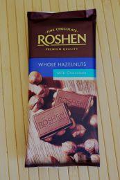 Молочный шоколад Roshen с цельными лесными орехами