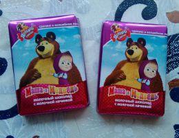 """Молочный шоколад с молочной начинкой """"Маша и Медведь"""" Детский сувенир"""