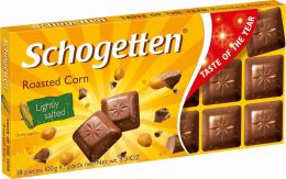 Молочный шоколад Schogetten Roasted Corn с обжаренными солеными кукурузными зернами