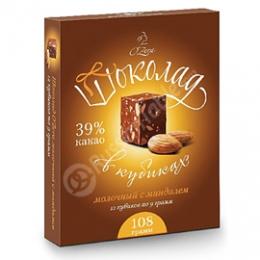 """Молочный шоколад в кубиках с миндалем """"O'Zera"""""""