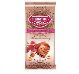 """Молочный шоколад """"Яшкино"""" с фундуком и изюмом"""