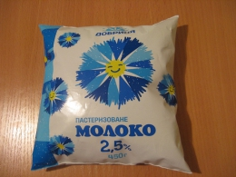 """Молоко """"Добрыня"""" пастеризованное 2,5%"""