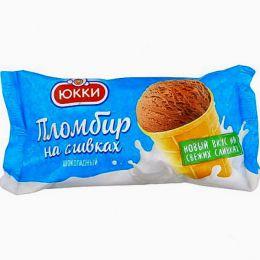 Мороженное пломбир на сливках шоколадный Юкки
