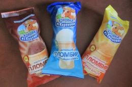 """Мороженое Коровка из Кореновки """"Пломбир из свежайших сливок"""""""
