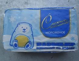 """Мороженое Снежное лакомство """"Пломбир ванильный"""" на вафлях"""