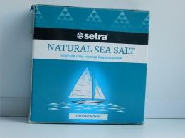 Морская соль Setra, мелкая йодированная