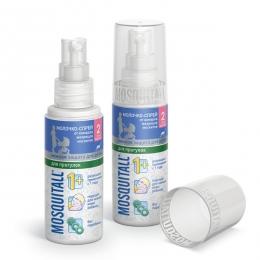 Mosquitall Молочко-спрей от комаров, москитов, мокрецов. Нежная защита для детей, для прогулок