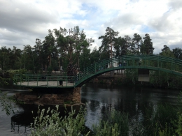 Мост Влюбленных в Центральном парке Культуры и отдыха имени Ю. А. Гагарина (Россия, Челябинск)