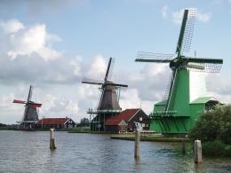 Музей мельниц Zaanse Schans (Амстердам, Нидерланды)