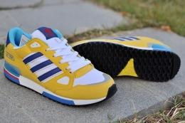 Мужские кроссовки Adidas zx750 yellow / blue / white