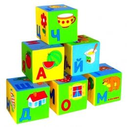"""Мягкие кубики """"Умная азбука"""" Мякиши"""