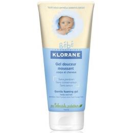Мягкий пенящийся гель для волос и тела Klorane с экстрактом календулы