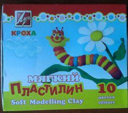 "Мягкий пластилин Кроха 10 цветов ""Луч"""