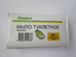 Мыло туалетное твердое «Каждый день» Яблоко