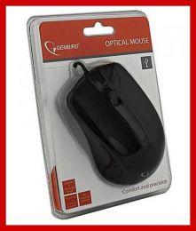 Мышь компьютерная проводная Gembird Optical mouse MUS-101 Black USB 1200 DPI