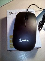Мышь проводная Oxion OMS 014DK черная